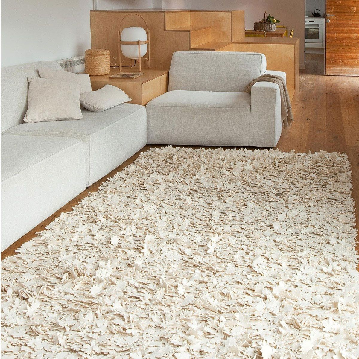 Carpet little field of flowers raw - Nanimarquina