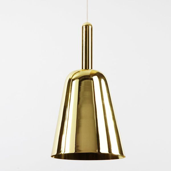 Paul Loebach's designs often focus on the emotive meaning of objects. The Major lamp collection is part of the Roll & Hill catalog, a collection of large-scale pendant lamps designed by Loebach and inspired by different musical instruments made of brass. The Major suspended lamp is made of steel, available in finished of oiled bronze, polished nickel, blackened steel and polished brass. Price for suspended lamp Major in polished brass finish.See more information at Naharro.