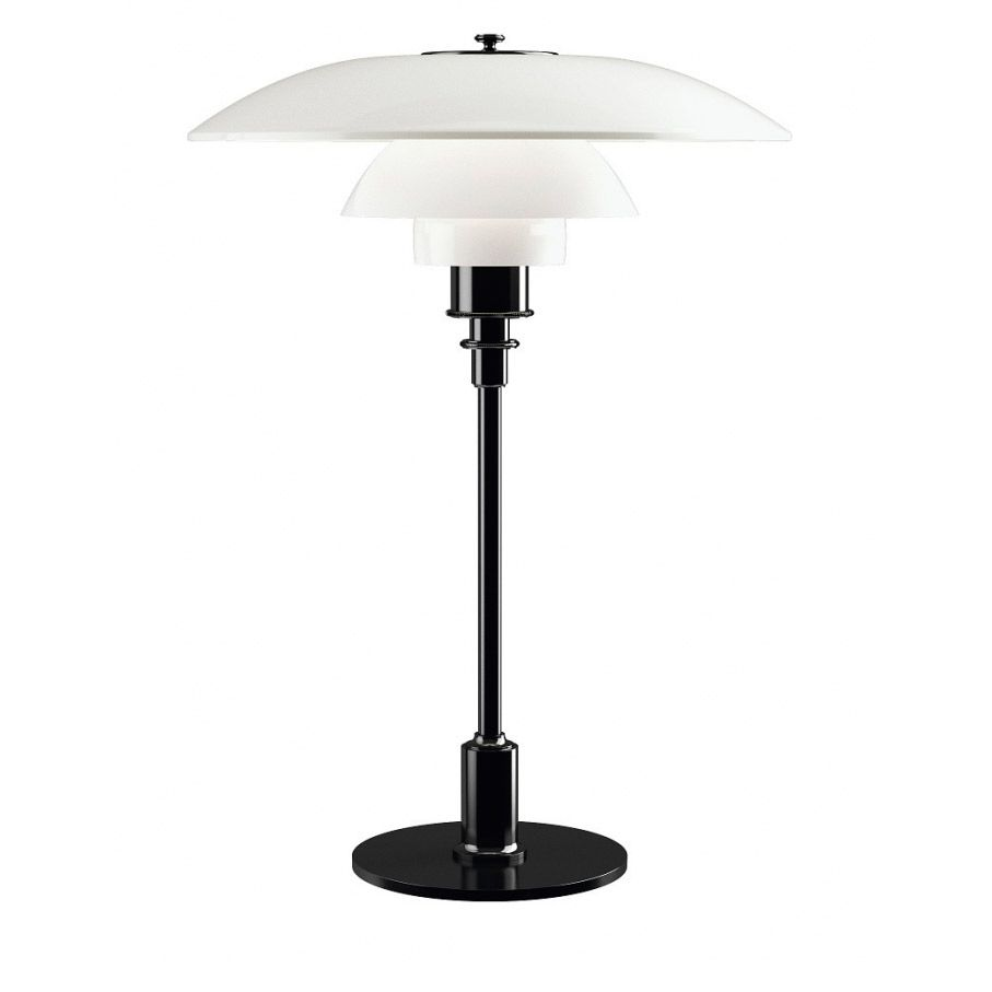 Lamp PH 3½-2½ Glass Table lamp black glass by Poul Henningsen edited by Louis Poulsen