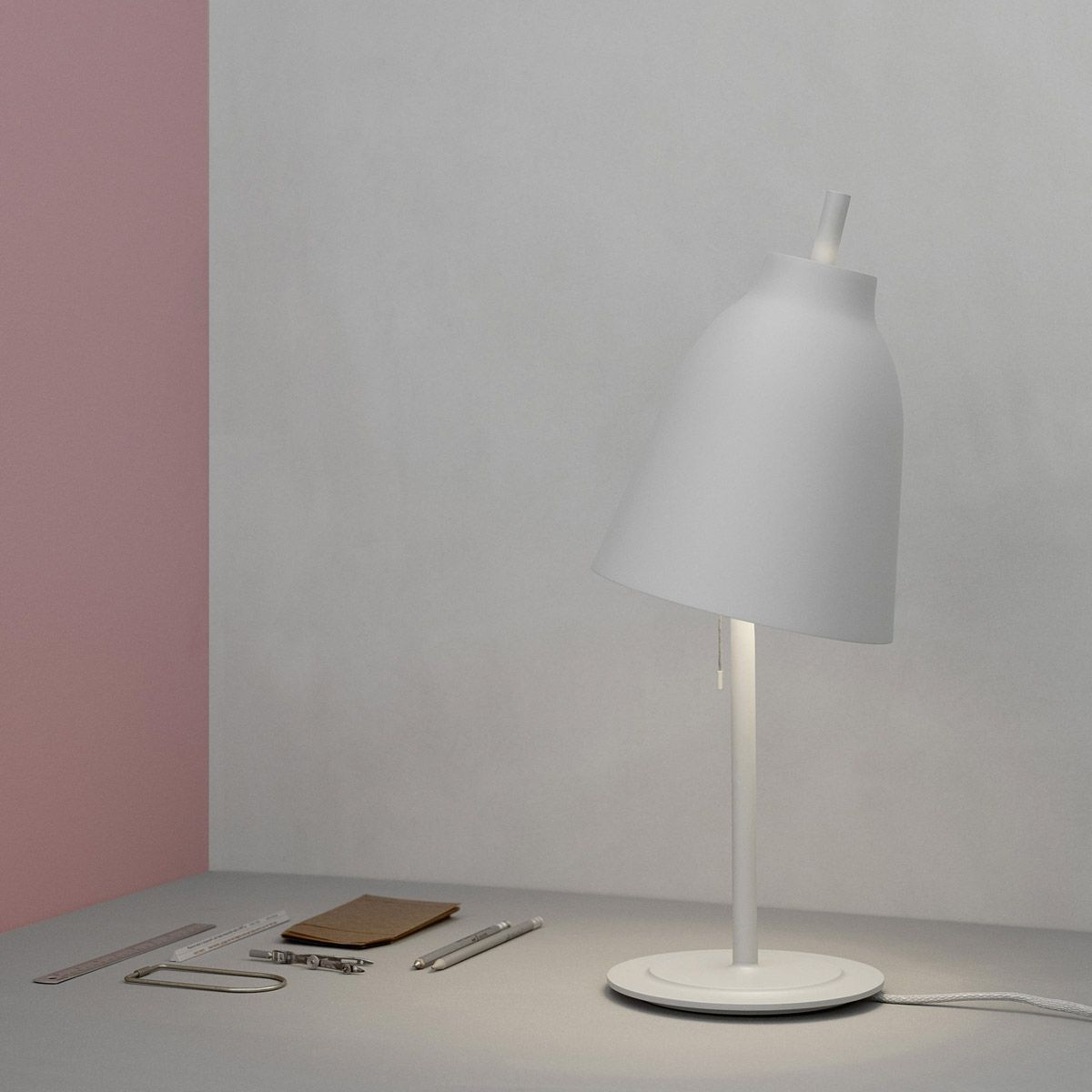 Caravaggio Table Matt lamp by Cecilie Manz edited by Lightyears