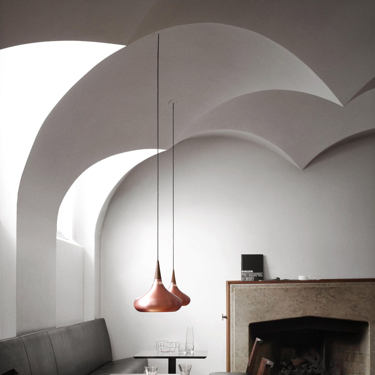 Orient copper lamp by Jo Hammerborg edited by Light Years
