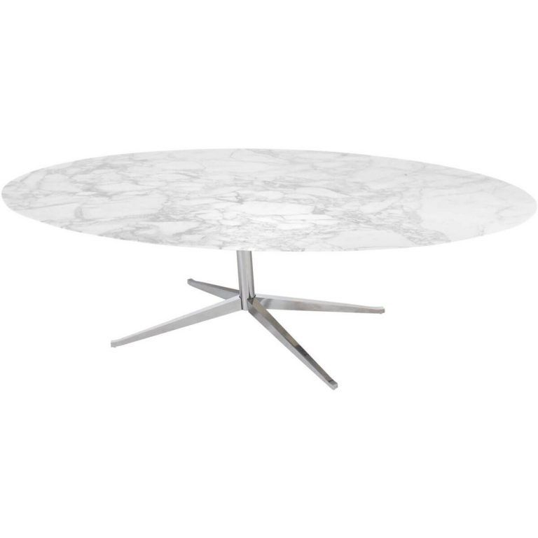 Oval table Florence Knoll marble - Knoll