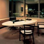 Florence marble oval table - Knoll