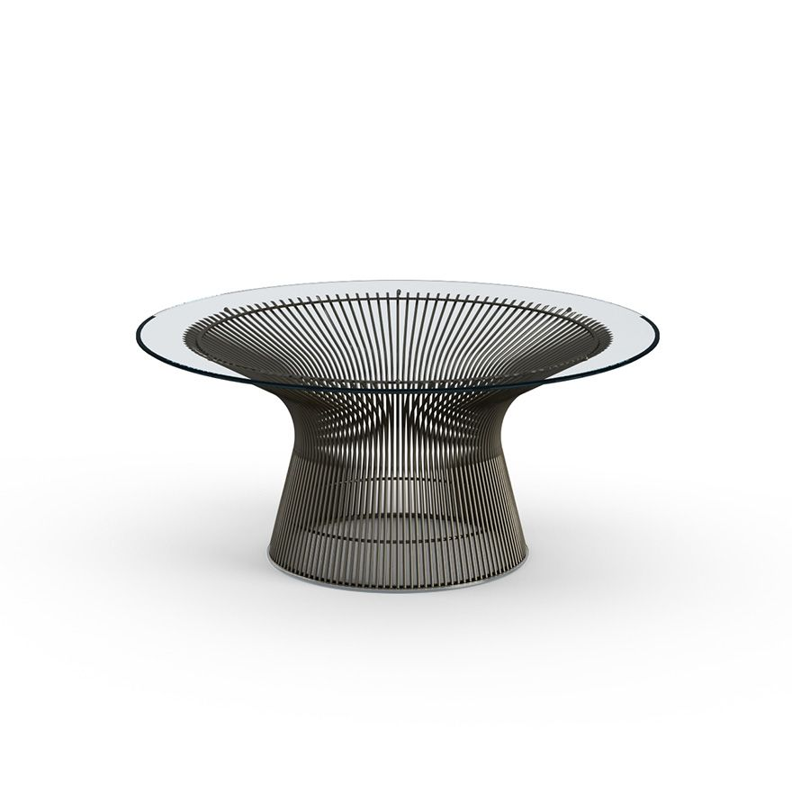 Table d'appoint Coffee Platner 91 Bronze - Knoll