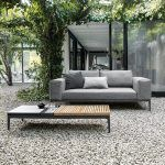 Grid rectangular coffee table - Gloster
