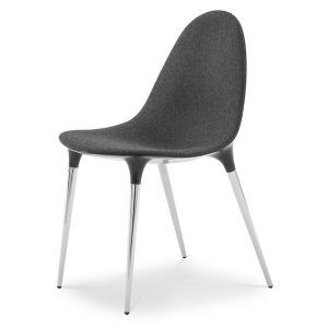 Caprice chair chromed nylon black by Philippe Starck edited by Cassina