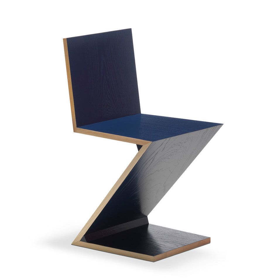 Blue Zig Zag chair edited by Cassina