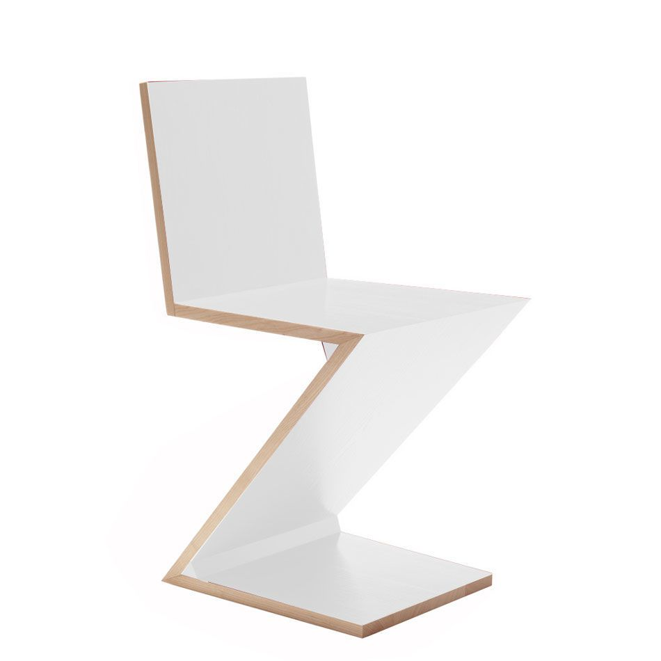 Zig Zag Chair For Cassina In The Online Store Nahas Showroom Madrid