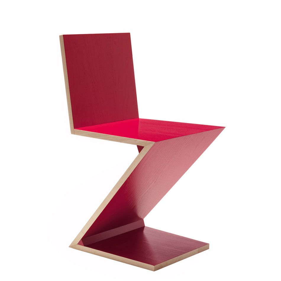 Red Zig Zag chair edited by Cassina