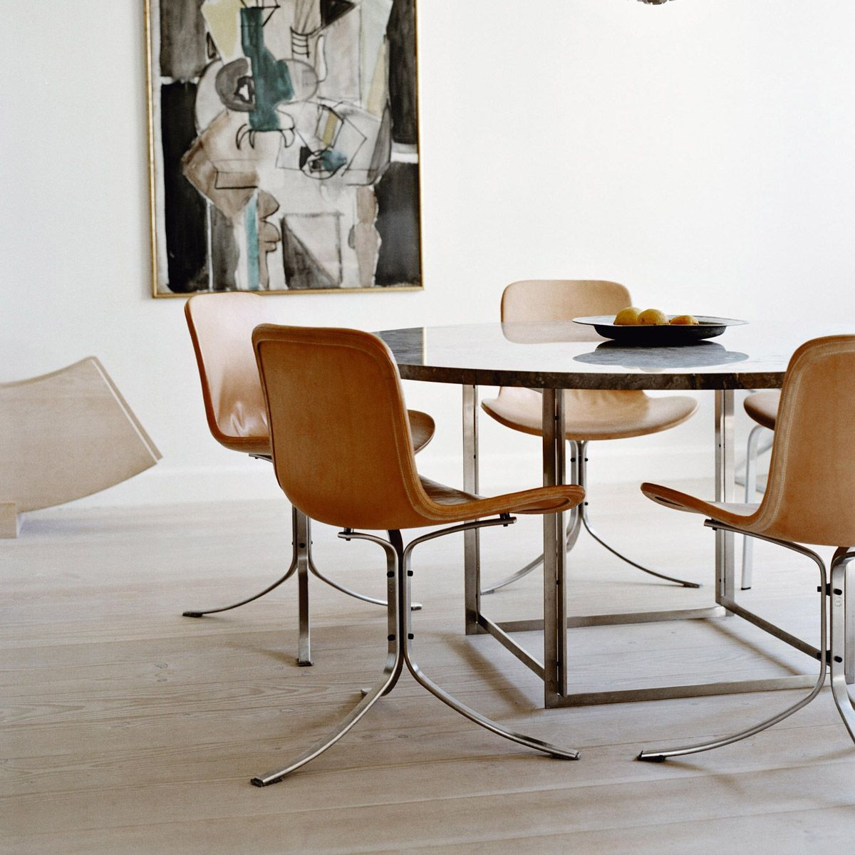 Chair PK9 by Poul Kjaerholm edited by Fritz Hansen