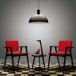 Armchair Luisa Fresno dyed black - Cassina