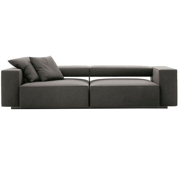 The Andy sofa by B & B Italia is a design by Paolo Piva characterized by the advancement of the seat and its elegant contemporaneity. Thanks to its configuration, it quickly changes from sofa to chaise longue, and moving the two seats forward, allows it to assume the function of bed. In addition, the backrest allows to vary the inclination from a horizontal position to another vertical very comfortable for the back.This collection is completed with a pouf perfectly adaptable to the modules of the system. Price 248 cm sofa, fabric monocolor Class A manufacturer. Does not include cushions. Check all the finishes, configurations and prices of the sofa in Naharro stores.