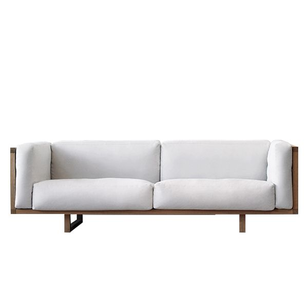 The Frame sofa (2010) is a design by the Johannes Johannes Foersom and Peter Hiort-Lorenzen characterized by its minimalist structure, an exclusive and elegant frame with a soft and cozy interior. Edited by the Danish firm Erik Jørgensen, it is a clear example of Scandinavian design. Details: Oak structure in natural finish or lacquered in white or black. Upholstered in fabric or leather of different categories. More information in NAHARRO.