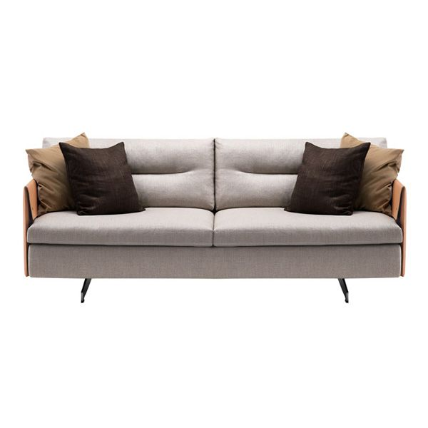 Jean-Marie Massaud is inspired by the saddlery to design the Grantorino sofa edited by Poltrona Frau, a modular sofa with a structure molded in leather and upholstered in fabric or leather. With great freedom of composition, it is available in two or three places and in more risky compositions with high and low arms. Details: structure in tubular metal with interlaced elastic straps. Backrest and arms in birch wood veneered with poplar. Goose down cushion cushions. Price for two-seater sofa with high backs in Pelle frau® leather and category B. See more information in stores NAHARRO.