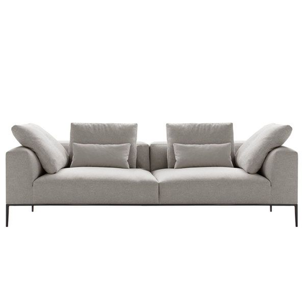 The Michel Effe sofa by B & B Italia is designed for those who love modernity and prefer furniture that hides its solidity behind an image of lightness. It is characterized by a simplification of the seat and thinner lines than its predecessor the Michel sofa. Designed by Antonio Citterio, this modular sofa allows a multitude of configurations in different finishes.Details: steel structure with frame filled with polyurethane foam and polyurethane cushions of differentiated density.Price for sofa Michel Effe of 203 cm in fabric of Extra category. Does not include additional cushions. See more information at Naharro stores.