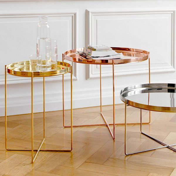 Habibi table 570 mm copper - e15