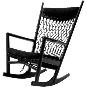 Pp124 black rocking chair - PPMobler