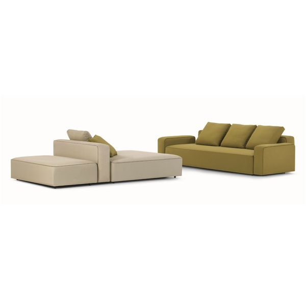 The Dandy modular sofa is a revolutionary system of the firm Roda, an intimate and family sofa with a renewed proposal for outdoors. Designed by Rodolfo Dordoni, is characterized by the versatility of its design, technological innovation and high quality in its manufacture and in the materials used, a modular system that allows multiple combinations adaptable to any environment. Details: structure in aluminum with special padding for the outdoors. Covers available in different finishes.Price for sofa of 300x130x60 cm in upholstery in category HD1 (formed by 1 module 002 and 003, and two 005 and 5 cushions backrest modules). Consult Naharro measurements, modules, finishes and prices.