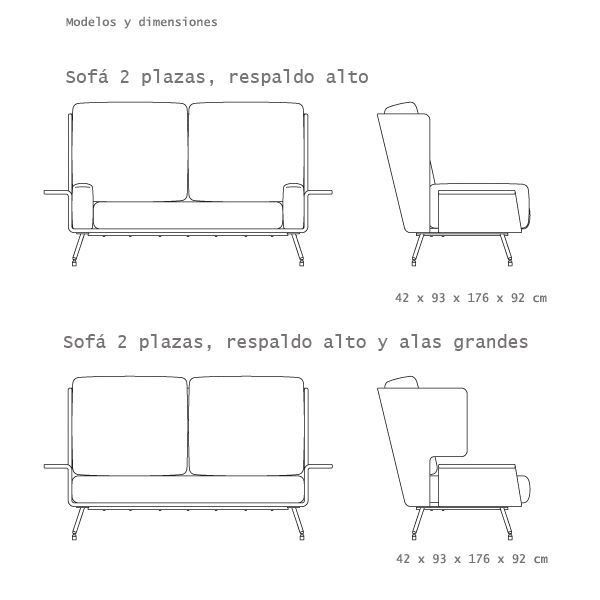 Knoll's Residential sofa belongs to the Architecture & Associés Collection and was designed by Pierre Beucler and Jean Christophe, a mixture that combines casual style with refined elegance, adding a touch of high fashion. Details: Frame in plywood, padded with foam of medium density. Chromed metal feet with adjustable feet. Available in 5 models, 2 and 3 seats with high and low backrests and large wings. Price 2 sofa with low backrest, with cushions and fabric upholstery Category C manufacturer. Tissue sample available in store. Ask us if you want more information and price