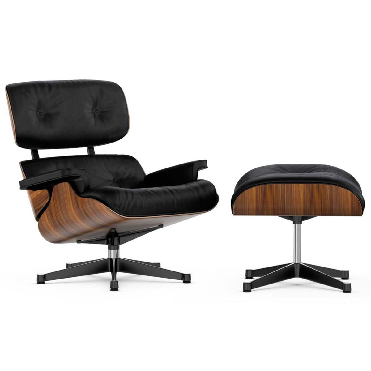 Lounge Chair and Ottoman Nogal - Vitra