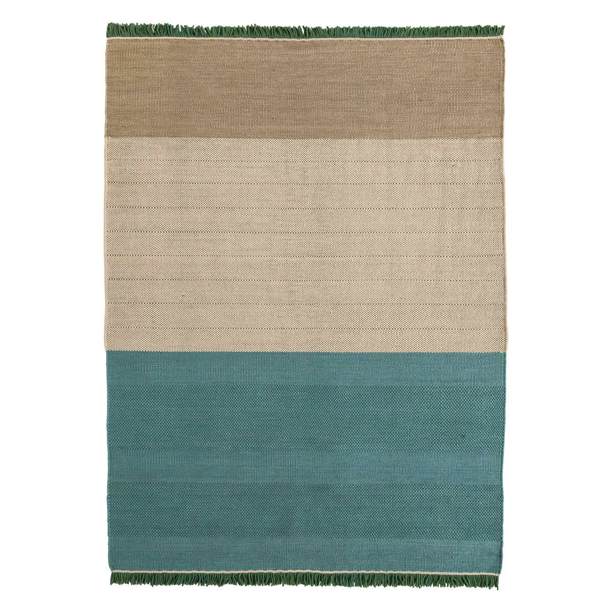 Tres Stripes Green Rug - Nanimarquina