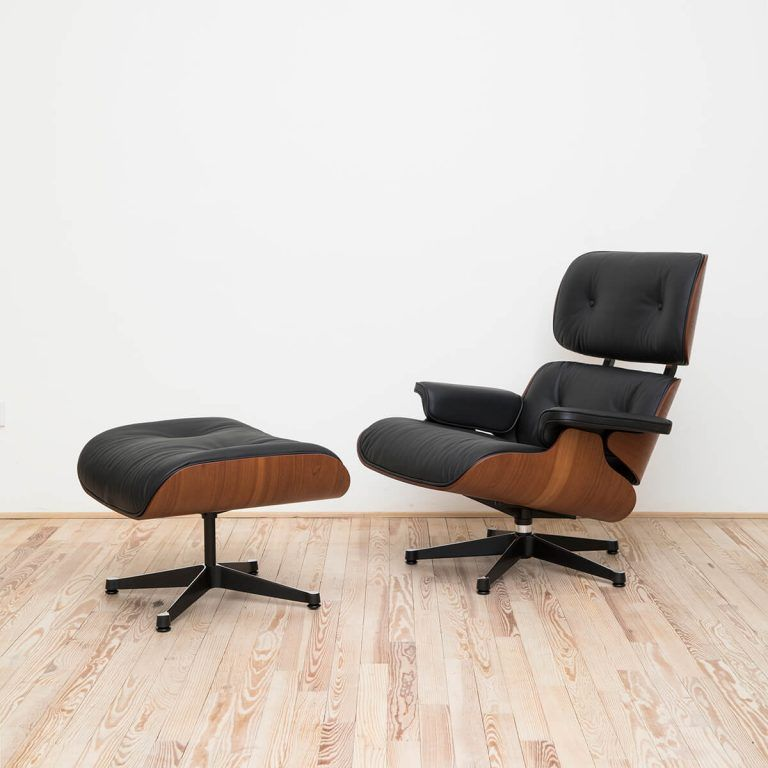 Lounge Chair & Ottoman Caoba Stock - Vitra