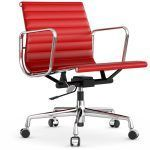 Chair Aluminum Group EA 117 Leather - Vitra