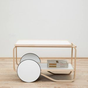 Trolley Tea Trolley 901 White - Artek