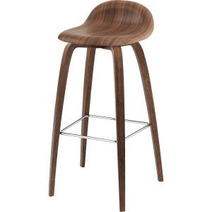 Stool 3D 75 cm Walnut - Gubi (copy)