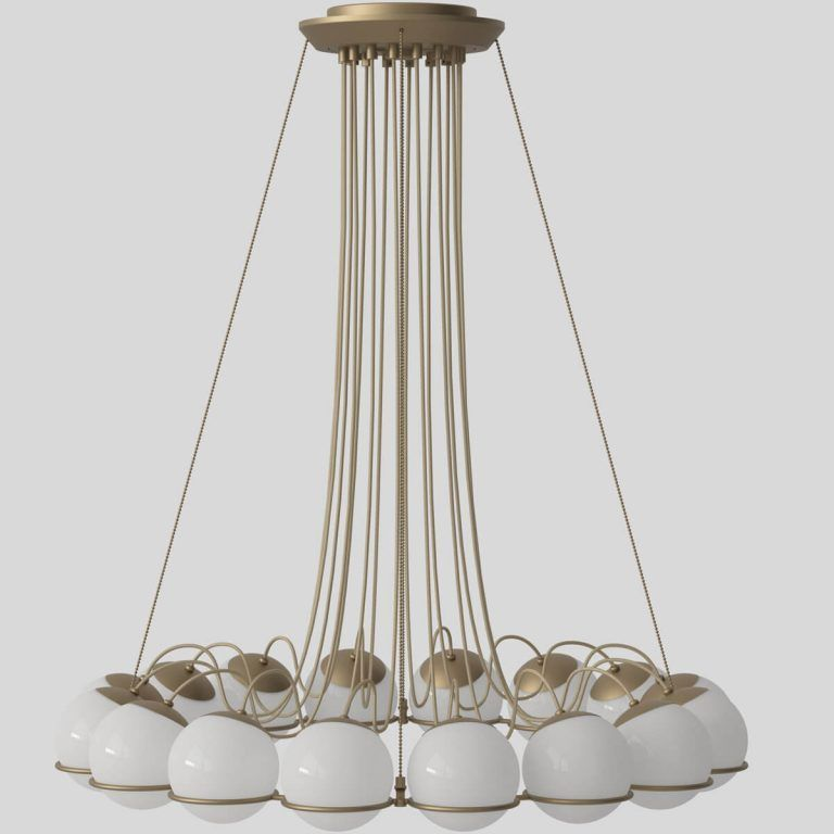 Model 2109/16/14 champagne lamp - Astep