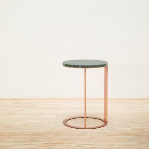 Round Lithos table 35 Green Marble - Maxalto