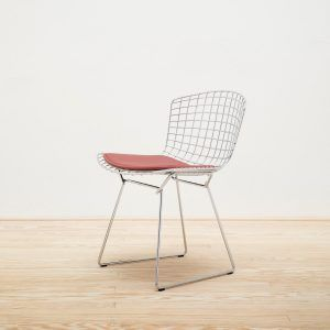 Side Bertoia chair with cushion - Knoll